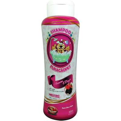 Shampoo Furacão Pet Amora e Cereja Neutro - 500ml