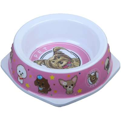Comedouro Melamina Pet Bowl Rosa - 500ml