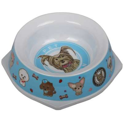 Comedouro Melamina Pet Bowl Azul - 500 mL