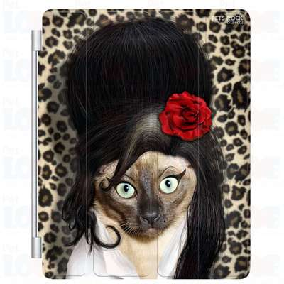 Capa Plast Cattattoo Pets Rock para iPad