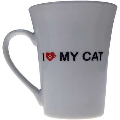 Caneca Pet in a Cup I love my Cat - Branco