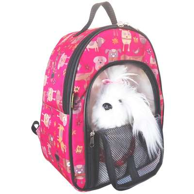 Mochila de Transporte Keep Pet com Zíper - Rosa