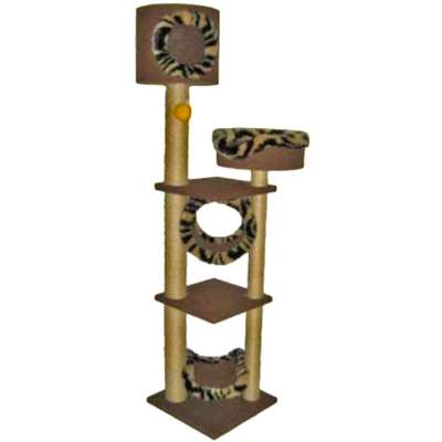 Brinquedo Arranhador Art Cat Kitty Tower com Cesta