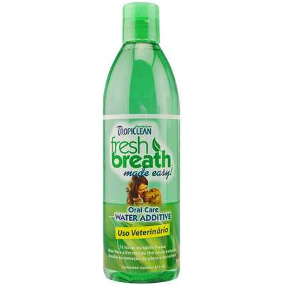 Enxaguante Bucal Tropiclean Fresh Breath Water Additive para Cães e Gatos - 473 mL
