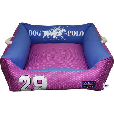 Cama Futon Dog Quadrada 5 zíperes Inspired Dog Polo - Rosa