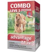Anti Pulgas e Carrapatos Combo Advantage MAX3 G para Cães de 10kg a 25 kg - 2,5ml