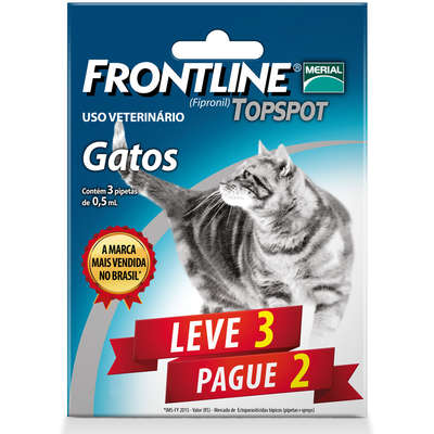 Anti Pulgas e Carrapatos Frontline Top Spot para Gatos