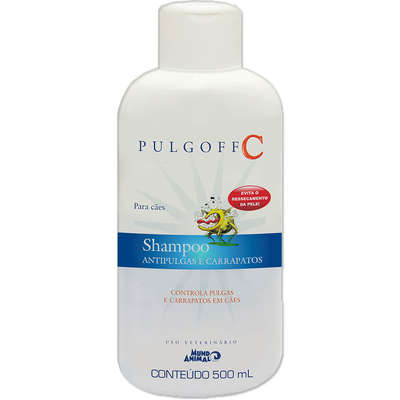 Shampoo Antipulgas e Carrapatos Mundo Animal Pulgoff C para Cães - 500 mL