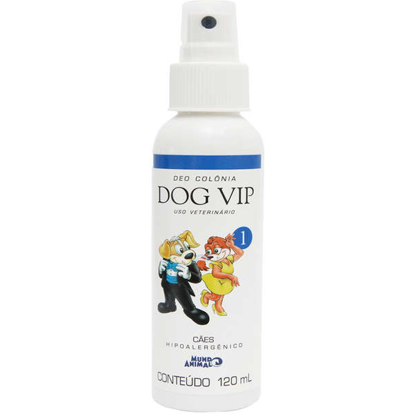 Deo Colônia Mundo Animal Dog Vip 1 Masculina para Cães - 120 Ml
