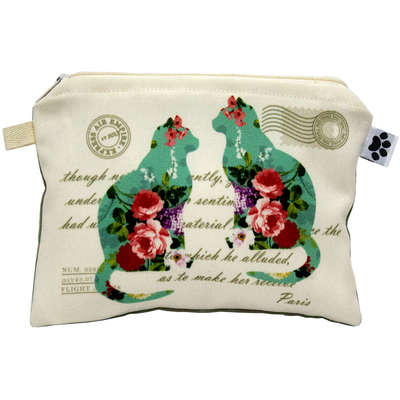 Necessaire Hello Pet Floral Antique Cat