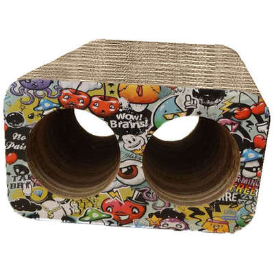 Brinquedo Arranhador Pet Games Cat Box Duplo - Grafite