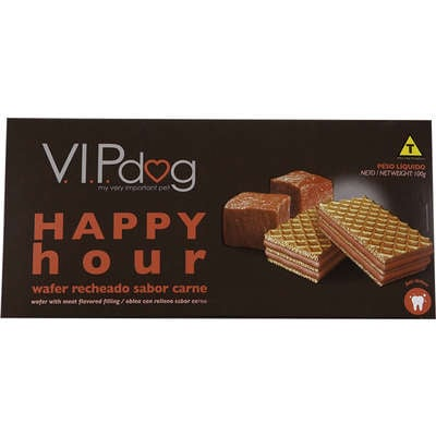 Chocolate Vip Dog Happy Hour Wafer Carne